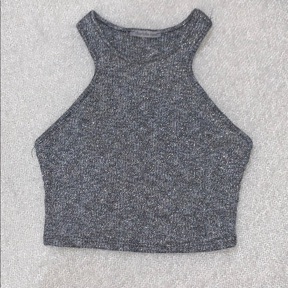 Charlotte Russe Tops - Silver/gray crop top